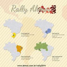 E já está no ar o hotsite do Rally Akmos 2014!  Confira todas as informações de todos os eventos durante esse ano.   Acesse: http://www.akmos.com.br/rally2014/