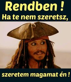 Ez egy frankó megoldás!! 👍😂😂😂 Wtf Funny, Funny Jokes, Hahaha Hahaha, Johny Depp, Me Too Meme, Jokes Quotes, Pirates Of The Caribbean, Cute Gif, Funny Pins
