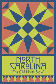 NORTH CAROLINA quilt block. Ready to sew. Single 4x6 block $4.95.