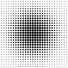 Image of 'pattern of black dots in the style of halfton'