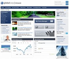 Intranet Front End Design Ed By Dashboard