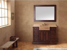 "48"" Bathroom Vanity w/ Travertine Top by James Martin - Max Furniture"