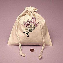3 X 5 Lavender Embr Cotton Muslin Pouch