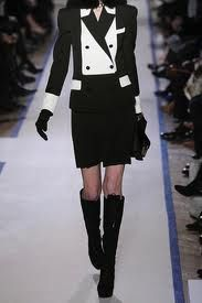 Ysl tuxedo jacket and pleated skirt, way past cute