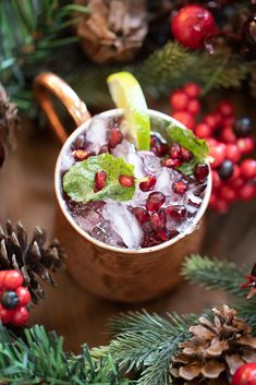 A super fun and festive holiday cocktail. Holiday Cocktails, Fun Cocktails, Basketball Season, Acai Bowl, Festive, Tasty, Breakfast, Life, Food