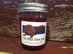 Raspberry Rhubarb Jam by thebestdamjam on Etsy, $5.99