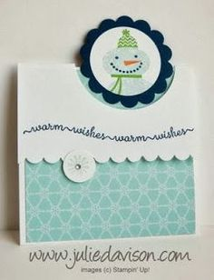 VIDEO tutorial for Flap Fold Card with Stampin' Up! Snow Day stamp set by Julie Davison http://juliedavison.blogspot.com/2013/11/video-flap-fold-card-tutorial.html