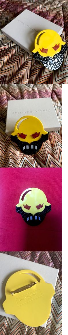 Pins and Brooches 50677: New $290 Stella Mccartney Yellow Superhero Brooch Collectible -> BUY IT NOW ONLY: $49.99 on eBay!
