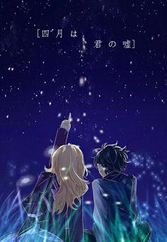 Shigatsu wa Kimi no Uso   Your Lie in April    Kawori Miyazono x Kousei Arima   OTP   Anime   Fanart   SailorMeowMeow