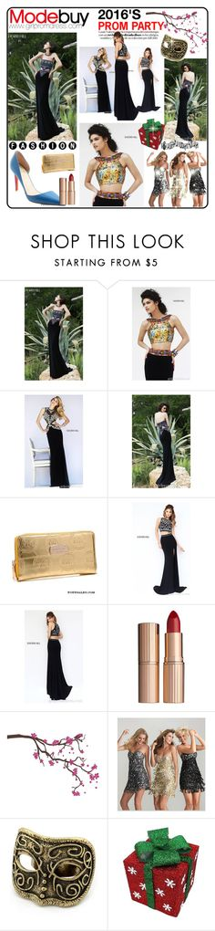 """""""Sexy Black Sherri Hill Prom Dresses"""" by evermissjody ❤ liked on Polyvore featuring Sherri Hill, Christian Louboutin, Charlotte Tilbury and Surface Collective"""