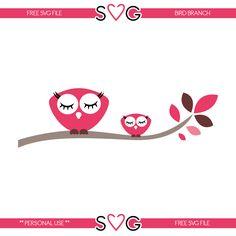 FREE SVG owl bird on branch
