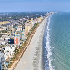 Myrtle Beach Coastline from a Helicopter Ride