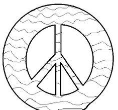 vredesteken kleurplaat d 237 a de la paz signe de paix