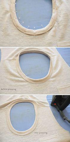 megan nielsen design diary: How to sew a knit neckline binding // the Megan Nielsen method