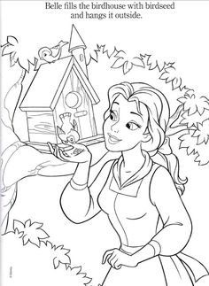 Belle Coloring Pages | Disney Princesses Belle Coloring Pages >> Disney…