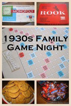 Homeschool Coffee Break: History Lesson: 1930s Family Game Night