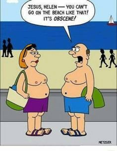Apologise, but, Nude comic humor beach