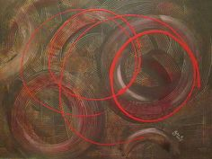 Abstract by Julie Crisan.  Entitled Break the Cycle.  www.artbyjuliec.com
