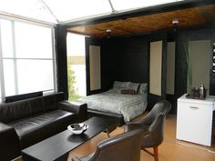 Shipping Container Homes: Max Living and Design - Chicago and Puerto Vallarta - 20 ft Shipping Container Home  http://homeinabox.blogspot.com.au/2012/10/max-living-and-design-chicago-and.html