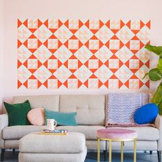 Take a note from traditional American quilts and turn sticky notes into artwork!