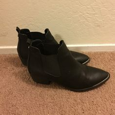 Circus by Sam Edelman Black Booties Size 9 Black booties with a silver accent at the toe. Low heel! Very comfortable. Gently worn! Circus by Sam Edelman Shoes Ankle Boots & Booties