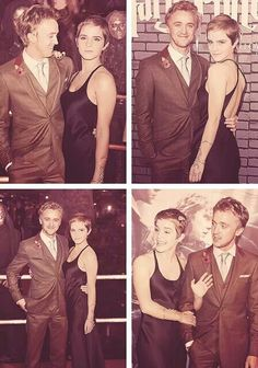 Tom Felton and Emma Watson - I don't ship Dramione but I ship Tom and Emma. I hope she ends up with someone from the HP movies.