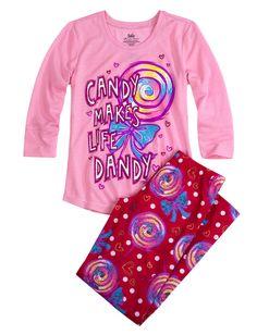 Candy Jersey Pajama Set | Pant Sets | Pajamas | Shop Justice