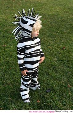 Super easy #DIY zebra #kid #costume for #halloween