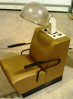 Vintage Electric Salon Style Hair Dryer Chair - .auctiontoday.co & 2 Vintage mid century Retro Beauty Salon Chairs Naturelle Hair Dryer ...