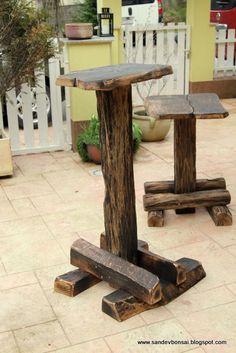 bonsai displays | My new garden bonsai stands