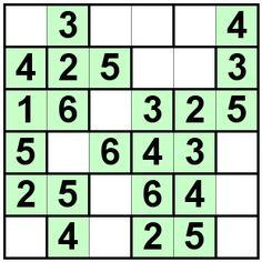 Number Logic Puzzles: 21747 - Bricks size 6