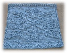 Ravelry: Snow Crystal Cloth pattern by Alli Barrett Knitted Dishcloth Patterns Free, Knitting Squares, Knitted Washcloths, Crochet Dishcloths, Knitted Blankets, Loom Knitting, Knitting Stitches, Knitting Patterns Free, Knit Patterns