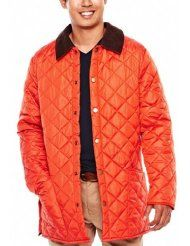 #$@! Check JCP Mens Quilted Lightweight Jacket Size X-Large XL Orange – Travel Hiking Working Compare