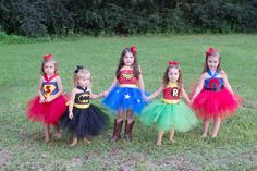 Halloween Costume or Birthday Party Dress Super Hero por shoppe3130