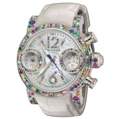 Jeweled watch - so gorgeous! #sparkle #colour #bling