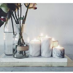 living room ideas – New Ideas Green Design, Marble Candle, Pillar Candles, Interior Decorating, Interior Design, Design Seeds, Home And Deco, My New Room, Home Decor Inspiration