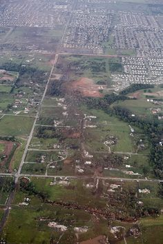 5/20/13 . . . Moore, Oklahoma hit by an F4-tornado.  Buildings destroyed included an elementary school and a hospital.  At least 9 children were killed.