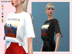 Short-sleeved T-shirt - The Sims 4 Download - SimsDom