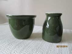 Vintage Hall Restaurant Ware, Hall Green Remekin, Hall Green Creamer, Ironstone, Pottery by chulapoe on Etsy