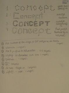 Concept 1: Informatie bij schetsen