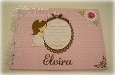 libro de firmas en rosa y chocolate