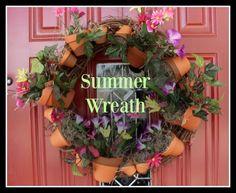 My Flagstaff Home: Summer Wreath: www.GirlGab.com