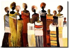 ☛ African Painting from Kenya :  #Africa #Art
