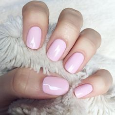 "cool-toned baby pink nails: 2 coats of pop-arazzi's ""Sugar Spun"" + 1 coat of @essiepolish's ""Ballet Slippers"". _amandabella #manicure"