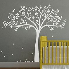 loQuenn Autocollant mural arbre blanc pour chambre d'enfant