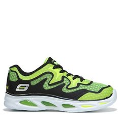 Skechers Kids' Dynamo Sneaker Pre/Grade School Shoes (Black/Lime) - 1.0 M