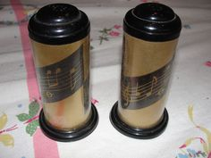 Musical cylinder Salt and Pepper Shakers