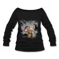 Elves love Frauen Pullover mit U-Boot-Ausschnitt von Bella    Pullover mit weitem Ausschnitt, für Frauen, 50% Polyester, 37,5% Baumwolle, 12,5% Viskose