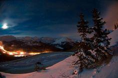 ❥ beautiful starry winter night sky
