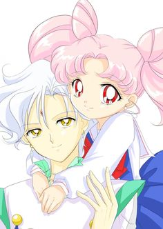 Chibi-usa and Helios!!